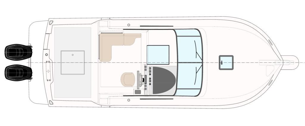 T280 fuoribordo piano di coperta